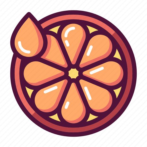 citrus, fresh, fruit, juice, lemon, orange, slice icon
