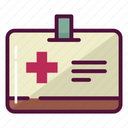 badge, card, doctor, hospital, id, medicine, personal icon