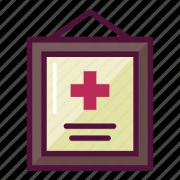 certificate, diploma, frame, healthcare, license, medical, medicine icon