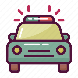 ambulance, car, emergency, medical, police, siren, transport icon