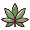 cannabis, drugs, healthcare, leaf, marijuana, medical, plant icon