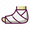 ambulance, bandage, broken leg, cast, hospital, injury, treatment icon
