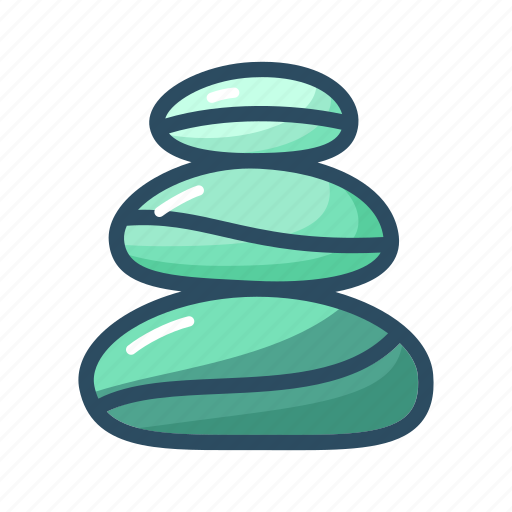 balance, beauty, relaxation, rock, spa, stone, therapy icon