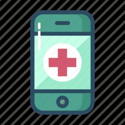 ambulance, emergency, healthcare, medicine, mobile, phone, telephone icon