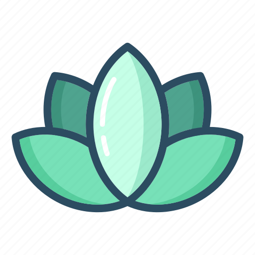 beauty, blossom, flower, lily, lotus, meditation, yoga icon