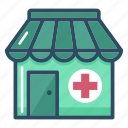 clinic, drug store, healthcare, hospital, medical, pharmacy, shop icon