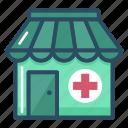clinic, hospital, medical, pharmacy, drug store, healthcare, shop