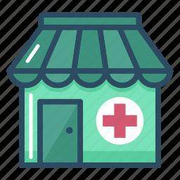 clinic, drug store, healthcare, hospital, medical, pharmacy, shop icon
