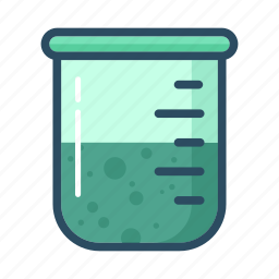 chemistry, experiment, flask, glass, laboratory, measuring beaker, test-tube icon