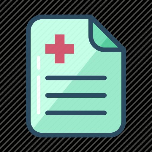 bill, document, history, leave, medical, prescription, sick icon