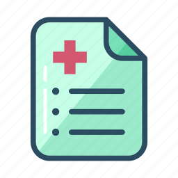 contract, doctor, doctor prescription, document, hospital, list, to-do list icon