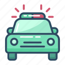 ambulance, car, emergency, police, siren, transport, transportation icon
