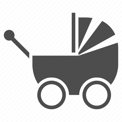 baby carriage, bag, child, children, family, kid, transport icon