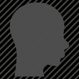 brain, face, head, human, patient head, profile, silhouette icon