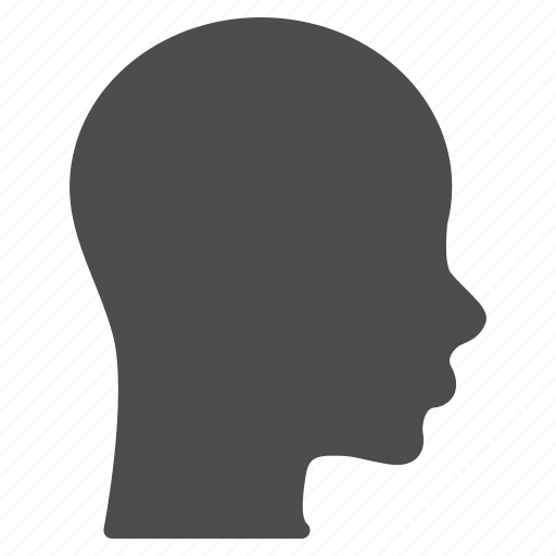 brain, face, head, human, patient head, profile, silhouette icon
