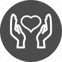 care, hand, hands, health, health care, heart, medical, medicine icon