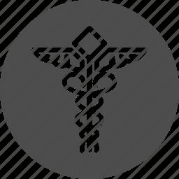 cure, doctor, emblem, health, health care, healthcare, hospital, medical, medicine, safety, snake icon