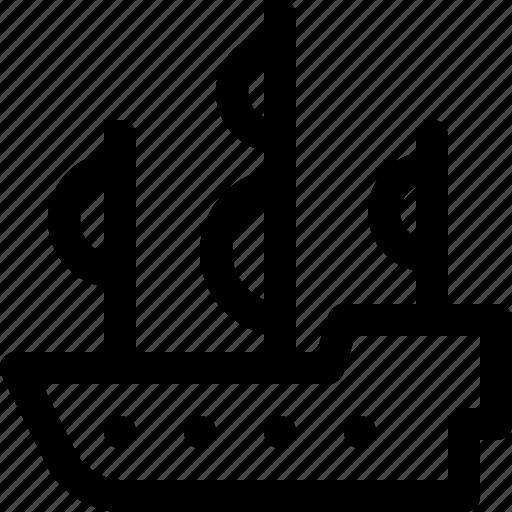 pirate, sail, sailboat, sails, ship, war icon
