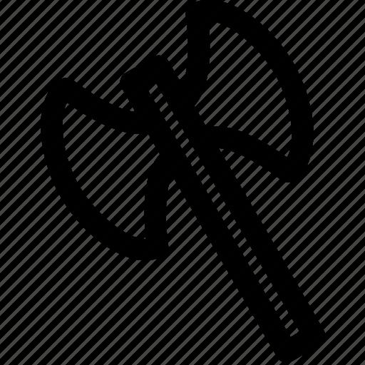 ax, axe, blade, double, edge, war, weapon icon