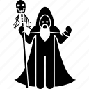 evil, mage, necromancer, shaman, sorcerer, voodoo, wizard icon