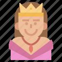 crown, emperor, leader, medieval, monarchy, queen, royaluser icon