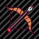 arrow, arrows, medieval, range icon