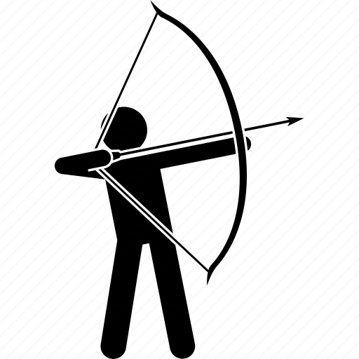 archer, arrow, bow, long icon