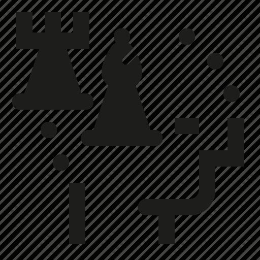chess, intelligence, plan, strategy icon