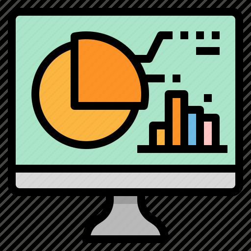 analysis, chart, computer, graph, statistics icon
