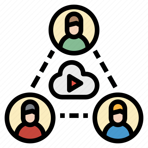 Chat, conference, group, online, video icon - Download on Iconfinder