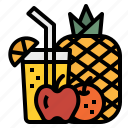 beverage, breakfast, drink, fruit, juice icon