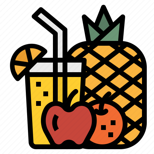 beverage, breakfast, drink, fruit, juice icon