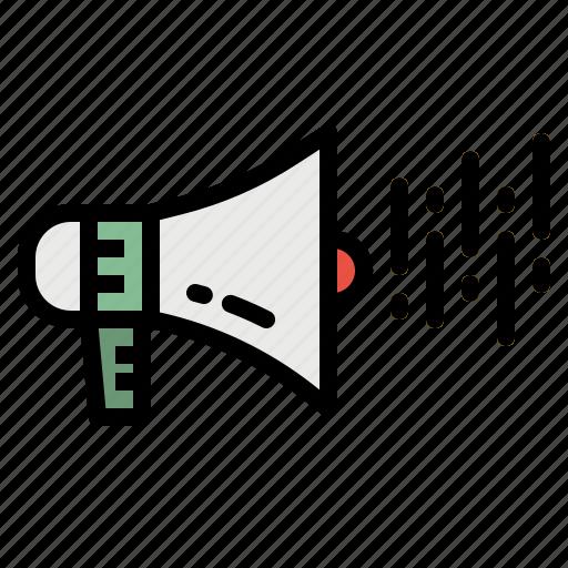Announcer, loudspeaker, megaphone, promotion, shout icon - Download on Iconfinder