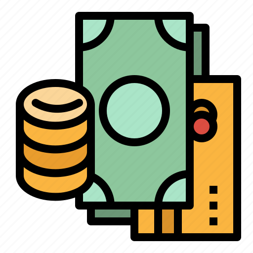 Cash, coins, currency, money, payment icon - Download on Iconfinder