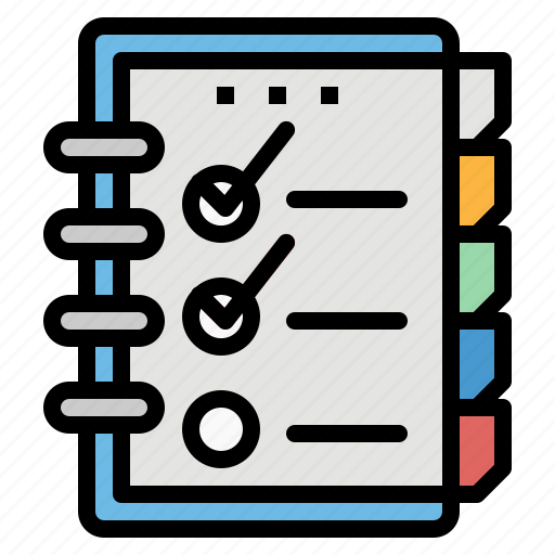 agend, file, note, notebook, schedule icon