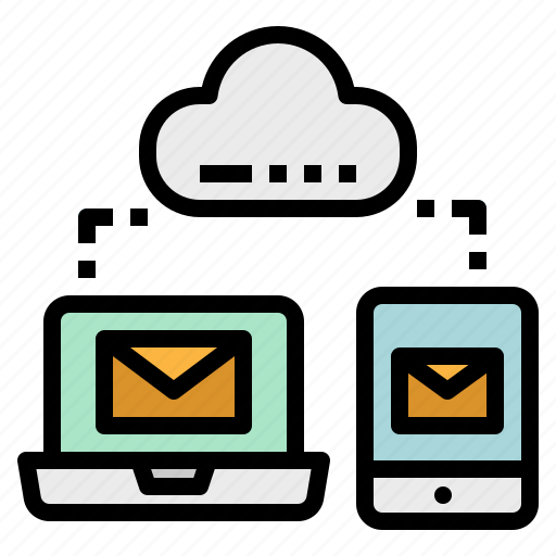 cloud, computer, mobile, network, share icon