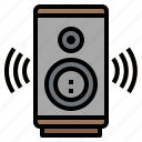 audio, multimedia, sound, speaker, volume icon