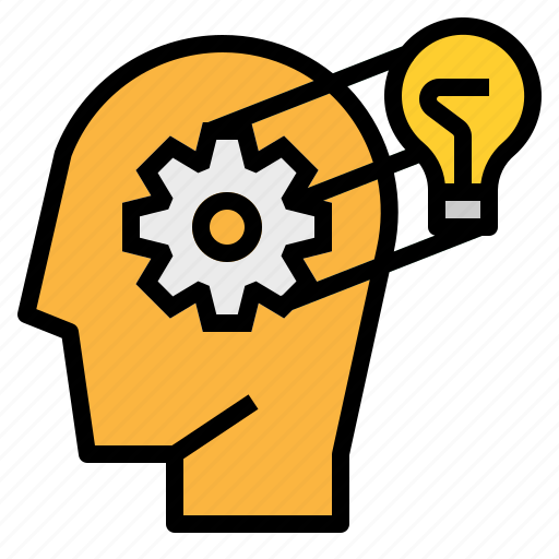 Gear, knowledge, mind, think, thought icon - Download on Iconfinder