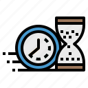 clock, clockwise, meeting, passing, time icon