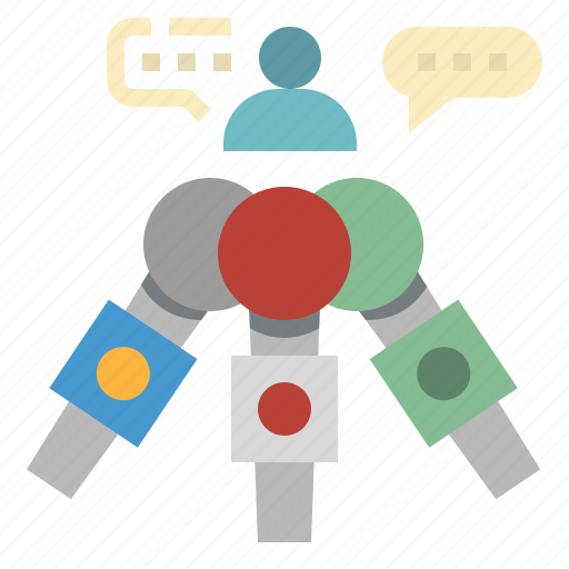 microphone, news, podium, show, speech icon