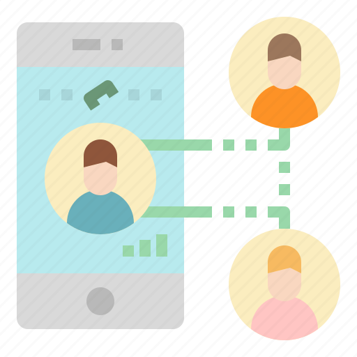 call, conference, mobile, phone, smartphone icon