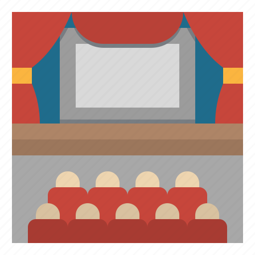 audience, conference, entertainment, stage, theater icon