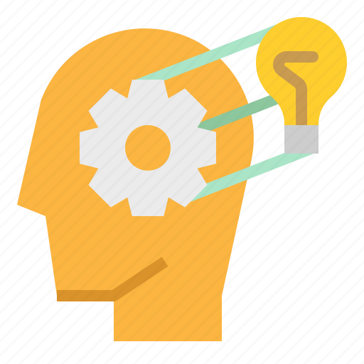 gear, knowledge, mind, think, thought icon