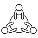 company, meeting, discussion, brainstorm, conference icon