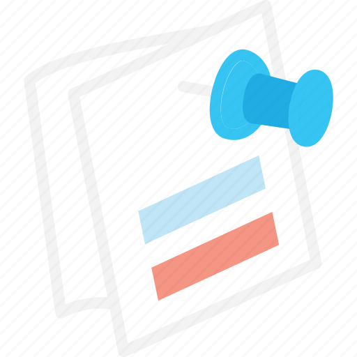 business, list, pin icon