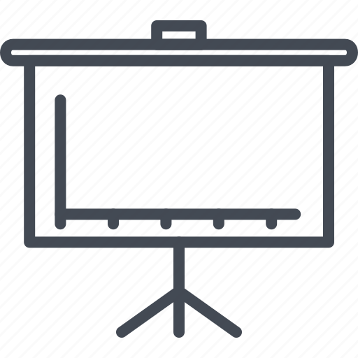 business, chart, diagram, flip, graph, line, meeting, ouline icon