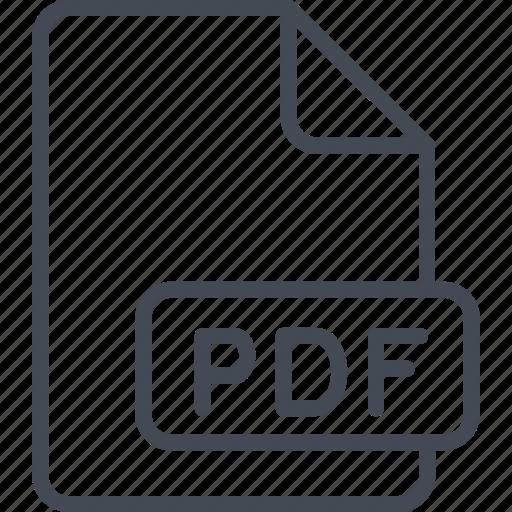 Business, file, line, ouline, pdf icon - Download on Iconfinder