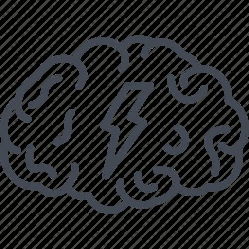 brain, business, idea, line, ouline, storm icon