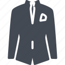 business, clothes, solid, suit icon