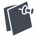 business, document, list, pin, solid icon